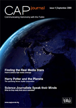 CAP Journal: communicating astronomy with the public