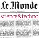 Le Monde lanza un nuevo suplemento sobre ciencia y tecnología