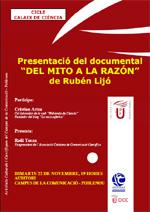 """Estrena del documental """"Del mito a la razón"""" de Rubén Lijó dins el cicle Calaix de ciència"""